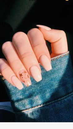 Copper flakes, pink nails Copper flakes, pink nails nails nails nails nails for teens fall 2019 fall autumn fake nails nails natural Simple Acrylic Nails, Summer Acrylic Nails, Best Acrylic Nails, Acrylic Nail Art, Acrylic Nail Designs, Summer Nails, Cute Nails For Spring, Baby Pink Nails Acrylic, Best Summer Nail Color