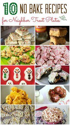 10 No Bake Treat Recipes for Neighbor Treat Plates