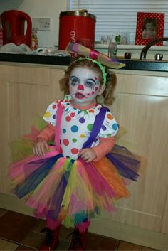 Sofia looking adorable in this brilliant clown costume!