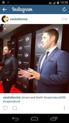 """""""@FangasmSPN: There isn't really a bad angle, is there? @JensenAckles #spn200 """""""