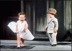 Little Marilyn Monroe, so cute ...  ... simply adorable!