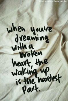 Hardest part of broken heart