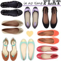 Fun, affordable leather flats