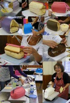 clutch fondant cake