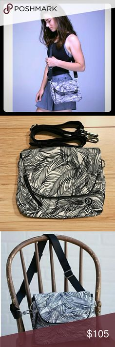 RARE Lululemon Party Om Palm leaf print bag Amazing bag. Pre loved no real signs of wear. No stains or tears. lululemon athletica Bags Crossbody Bags