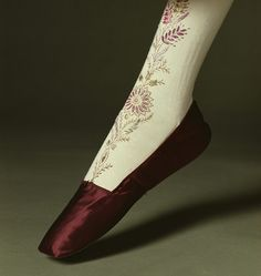 Stockings  1830s  The Kyoto Costume Institute  gorgeous embroidery