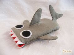 iPhone case - JAWS Shark iPhone / iPod/ Cell phone Felt Case. $20.00, via Etsy.
