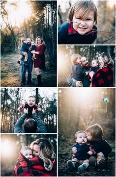 Family of Four Portrait Session winter outdoors. What to wear for family photos. Poses for toddler and baby brothers.