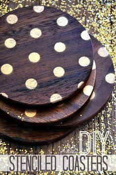 DIY Coasters with Handmade Charlotte Polka Dot Stencils