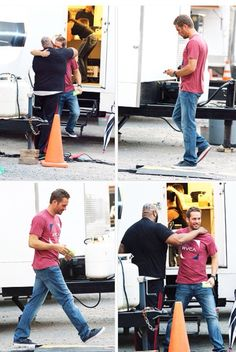30 April 2013, Montreal, Quebec, Canada — Paul Walker and the cast of the movie 'Brick Mansions' spotted on the first day of filming.