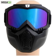 0a2424de1173f WOSAWE Men Women Windproof Snowboard Goggles Ski Glasses Motocross Glass  with Face Mask Protection Gear Skiing
