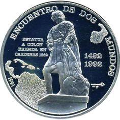 Moneda de plata 10 Pesos Cuba 1991. Iberoamericana