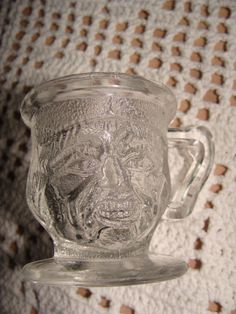 Vintage glass Unique Face Shot Glass or Toothpick by TheClassyLady, $12.00