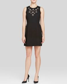 Adrianna Papell Embellished Mini Dress | Bloomingdale's