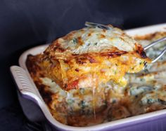 [Butternut Squash, Goat Cheese, & Sage Lasagna from YesToYolks.com]