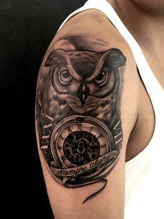 Owl tattoo by Juan David Castro R