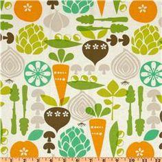 Kitchy Kitchen Vegetable Garden Linen    #fabric