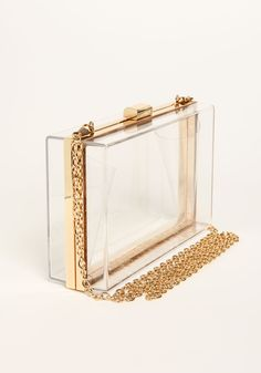 Clear lucite clutches