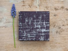Hand Bound Mini Sketchbook  Coptic Stitch - Purple & Silver by TheEloiseBindery