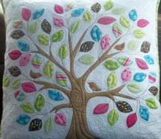 """#Quilted cushion cover made by """"Creativity Amongst Chaos"""".  Pattern by Kellie at """"Don't Look Now""""."""