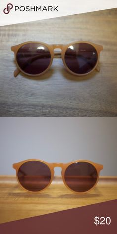 Profound Aesthetic honey round sunglasses Chic unisex round sunnies by Profound Aesthetic. Purchased from Urban Outfitters. Color is more accurate in first photo. Yellow/orange color, kind of like a honey  In excellent condition. Case included (photo to come). Urban Outfitters Accessories Sunglasses