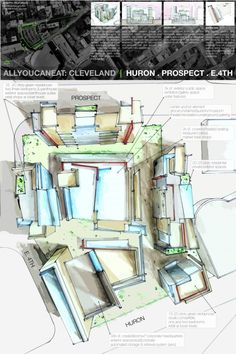 Huron. Prospect design board for a project in Cleveland, OH. E 4th