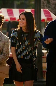 "Zoe's Kenzo Fancy Lightning Bolt Gemmed Shirt ""Hart of Dixie"" Season 3, Episode 8 ""Miracles"" - Spotted on TV"