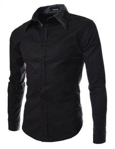 5e2daad1503 2015 Brand Mens Dress Shirts Men Double Collar Slim Fit Long Sleeve Shirt  Camisa Masculina Casual