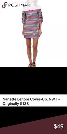 Nanette Lenore Cover Up NWT multicolor swim Cover Up Nanette Lepore Swim Coverups