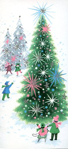 Vintage Christmas card ♥                                                                                                                                                                                 More                                                                                                                                                                                 Más