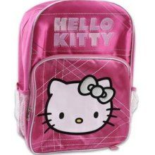 """Hello Kitty Pink Satin Backpack Back to School Supplies 16"""""""