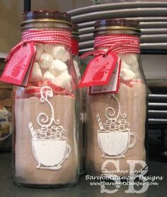 Love this DIY gift idea! Glass etched Starbucks frappuccino bottle repurposed,,brilliant!