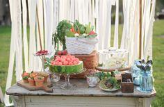 Garden Party Buffet Ideas   Wanda, of Sugar Maple Weddings & Events, styled a fresh garden buffet ...