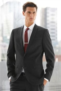 Buy Grey Regular Fit Suit: Jacket from the Next UK online shop