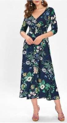0d6f5cce843 Buttons Up Floral Print Midi Dress - 70% off Midi Dresses