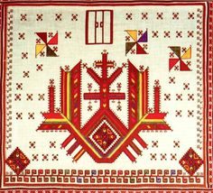 Chuvash (Russia) traditional folk embroidery