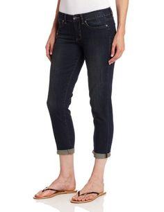 d8038758 Calvin Klein Jeans Women's City Worn Straight Crop, Dark Wash, ...