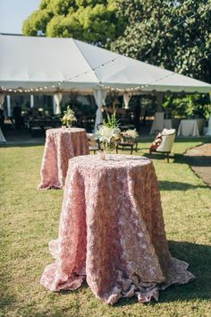 Pretty table clothes are such a simple way to bring in major beauty to your wedding decor.