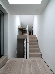 Love the wood used on floors and stairs
