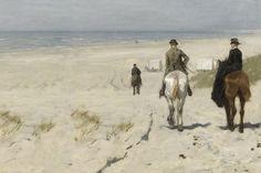 Fotobehang Morgenrit langs het strand Anton Mauve