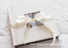 www.albumsremembered.com  Cameo cover flush mount wedding album $350 Free design with unlimited revisions