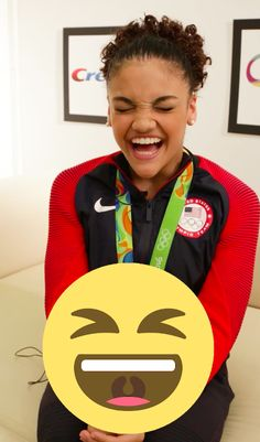 Gymnast Laurie Hernandez Is A Human Emoji And We Have Proof -   .