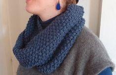 Un cache nez à la mode pour tenir bien chaud l'hiver. Fournitures: - 2 pelotes de 100g de laine (ou 4 de 50g) de grosse taille (en gros...