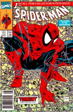 Spiderman by Todd McFarlane Issue #1....a lot of people thought Spawn was a Spidey/Batman rip off because he posed Spawn like this on the #8 cover.