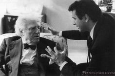 Two great tenors: Franco Corelli with Giovanni Martinelli