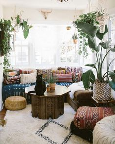 31 boho rooms with too many prints (in a good way!) on domino.com #70sHomeDecor