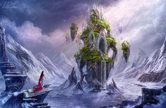 at home by Helga Hertz on DeviantArt Digital art illustration Digital art gallery Fantasy landscape