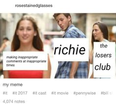 THIS IS WHY RICHIE IS MY FAVORITE  (I mean the fact that he's played by Finn Wolfhard helps too but-)