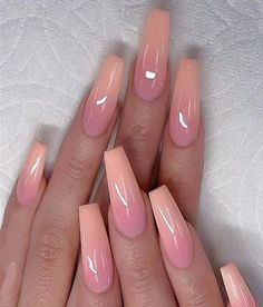 53 Chic Natural Gel Nails Design Ideas For Coffin Nails - Page 27 of 53 pink Gel coffin nails Fall Nail Art Designs, Acrylic Nail Designs, Funky Nail Designs, Ombre Nail Designs, Natural Gel Nails, Gel Nagel Design, Nagel Blog, Gel Nail Colors, Coffin Nails Long