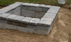 DIY Fire Pit from cinder blocks